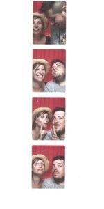 Aida y yo en un fotomatón de Coney Island